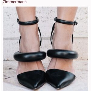 "Zimmerman ""Puffy Puff"" Black and White Heals"